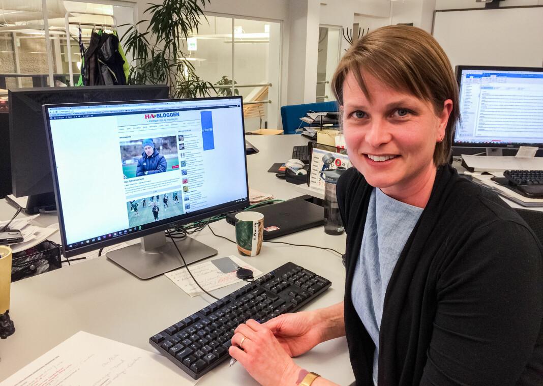 Utviklingsredaktør Anne Ekornholmen i Hamar Arbeiderblad lar seg daglig inspirere av egene kolleger.