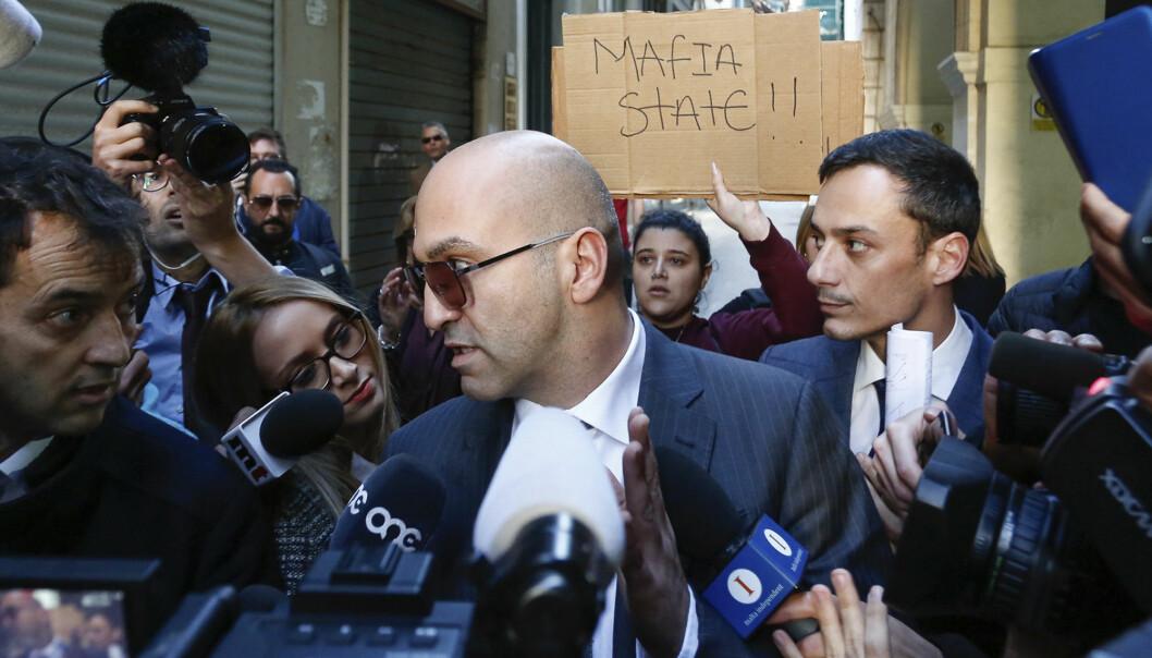 Yorgen Fenech ble stanset av politiet da han var i ferd med å forlate havnebyen Portomaso på Malta 20. november. Nå er han siktet. Foto: AP / NTB scanpix
