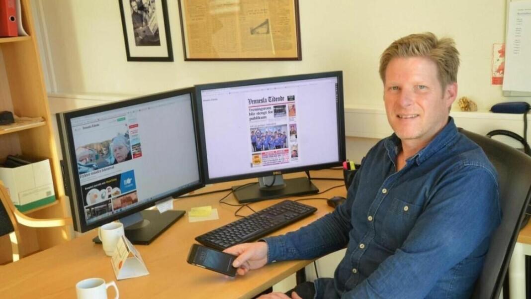 Redaktør Vennesla Tidende er frustrert over at lenker fra nettavisen ikke kan deles på Facebook.