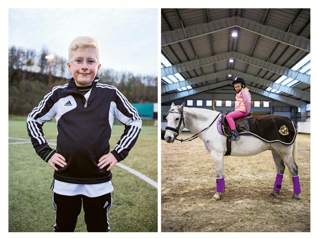 Lennart (9) elsker fotball og har Prader Willis syndrom. Ida (7) elsker å ri, og har limb-gidre 2.