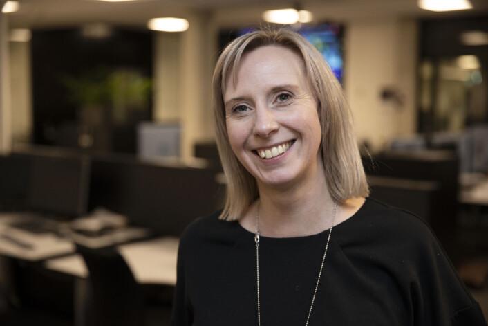 Charlotte Sundberg er sportsleder i Adresseavisen, som har tre kvinner og fire menn i sin sportsredaksjon.