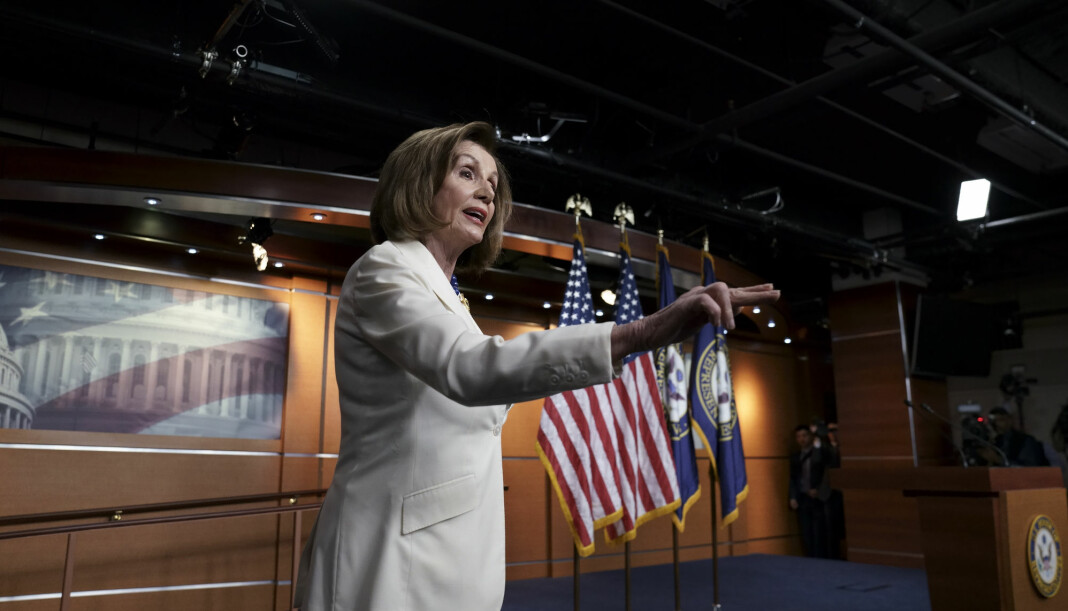 Speaker Nancy Pelosi var tydelig sint da hun fikk spørsmål om hun hater presidenten.