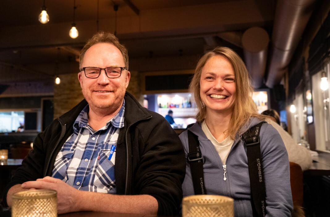 Gunnar Sætre og Lina Winge er begge ansatte i Sør-Varanger Avis.