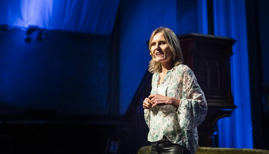 Helje Solberg har nylig deltatt på konferanse i Saudi-Arabia. Her fra et foredrag i Kulturkirken Jakob i Oslo i 2018. Foto: Kristine Lindebø