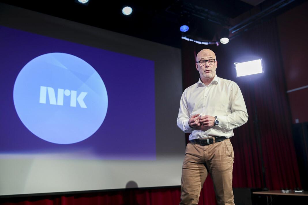 Tallmateriale Journalisten har fått innsyn i, viser at NRK har registrert mer enn 3600 brudd på arbeidsmiljøloven siden 2016. Her ved kringkastingssjef Thor Gjermund Eriksen.