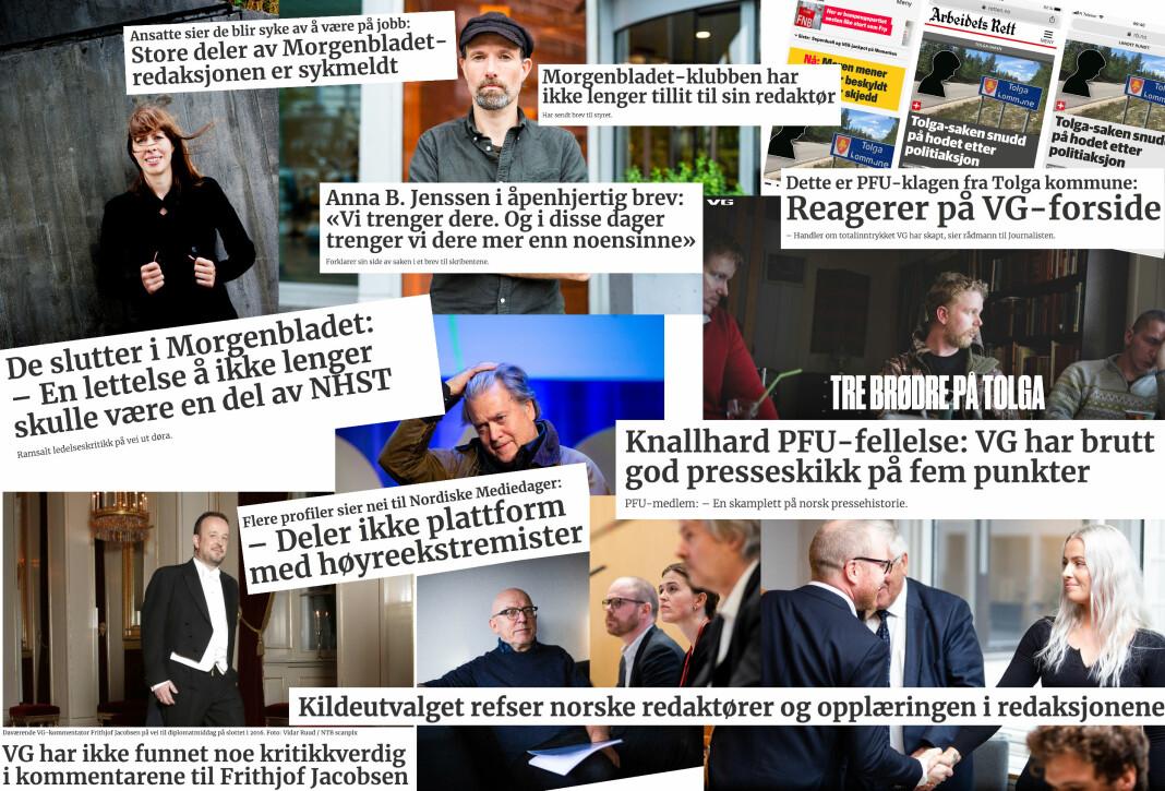 I 2019 har det vært flere store mediedebatter i de store mediene.
