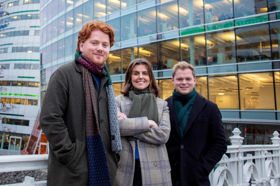 Birk Tjeldflaat Helle, Kathinka Hartwig og Petter Winther har fått fast jobb i DN.