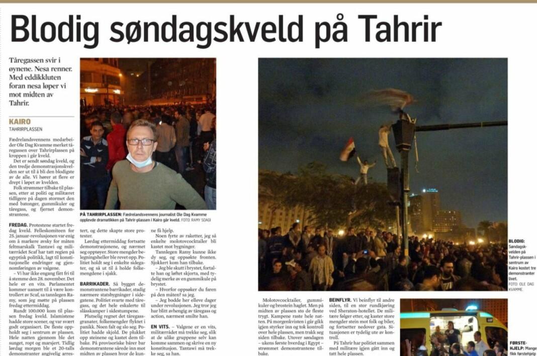 Fædrelandsvennen 21. november 2011.