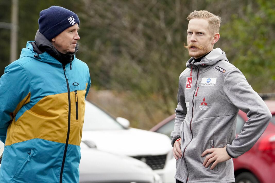 TV 2s Kasper Wikestad skal formidle når Robert Johansson og de øvrige norske hopperne jager seier i Innsbruck og Bischofshofen.