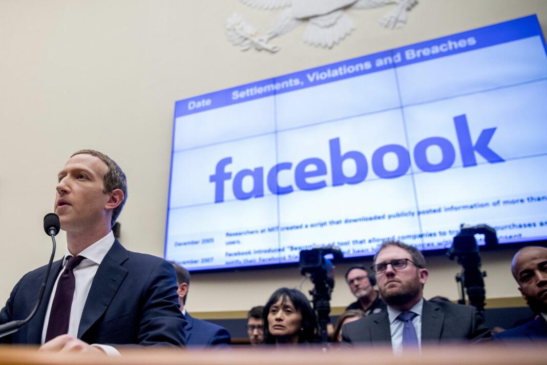 Facebooks Mark Zuckerberg, her under en høring i Kongressen i fjor.