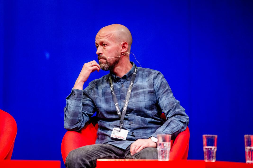 Per Arne Kalbakk, etikkredaktør i NRK, under Skup i 2019. Foto: Eskil Wie Furunes