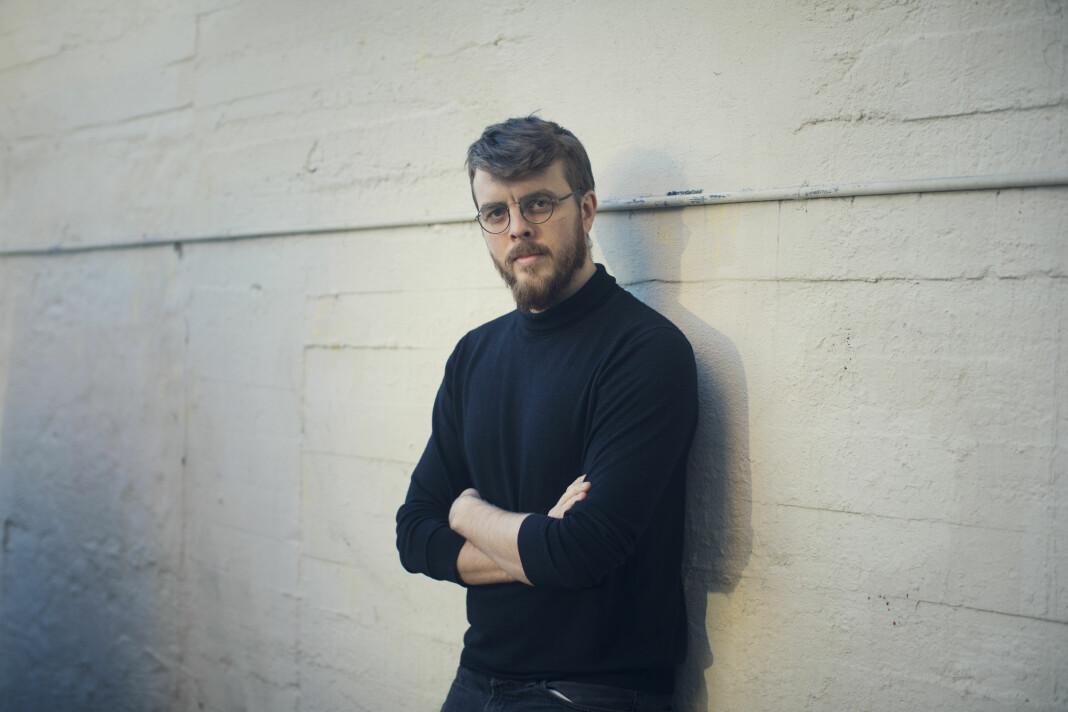 «Dagsferskt kommunikasjonsbilde», beskriver Kyrre Lien om dette bildet av seg selv.