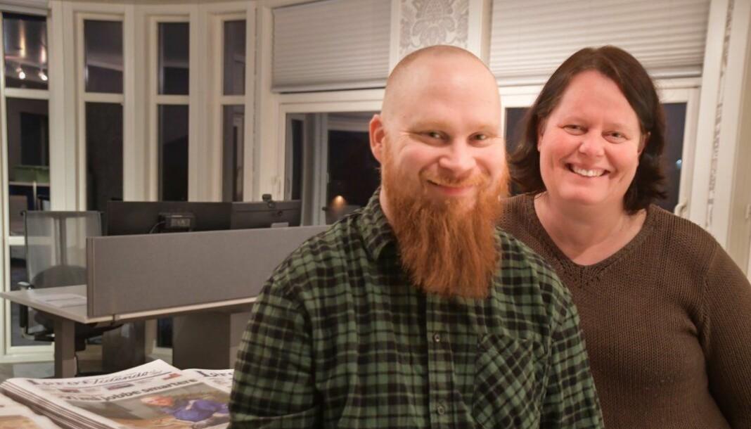 Gøran Gimsøy og Anci Tinde har begge fått fast jobb i Lofot-Tidende.