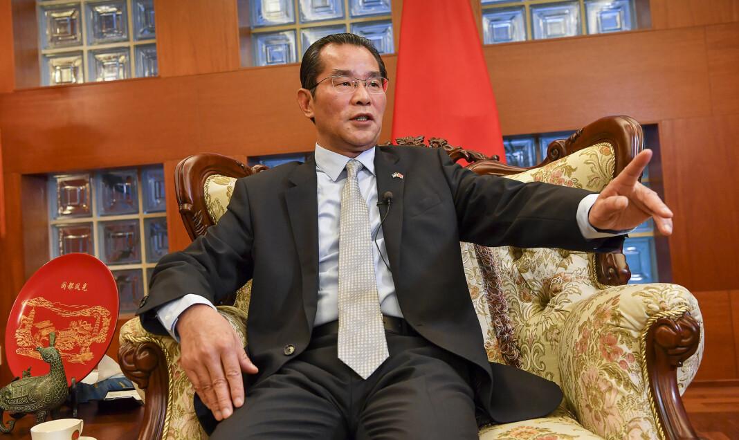 Kinas ambassadør i Sverige, Gui Congyou.
