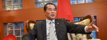 Stockholm, Sverige 20191115.  Kinas ambassadør Gui Congyou i Sverige. Foto: Jonas Ekstromer/TT NYHETSBYRÅN / NTB scanpix