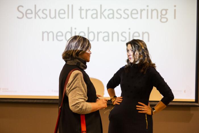 Klubbleder Henrikke Helland i TV 2 og assisterende generalsekretær Reidun Kjelling Nybø i Norsk Redaktørforening.