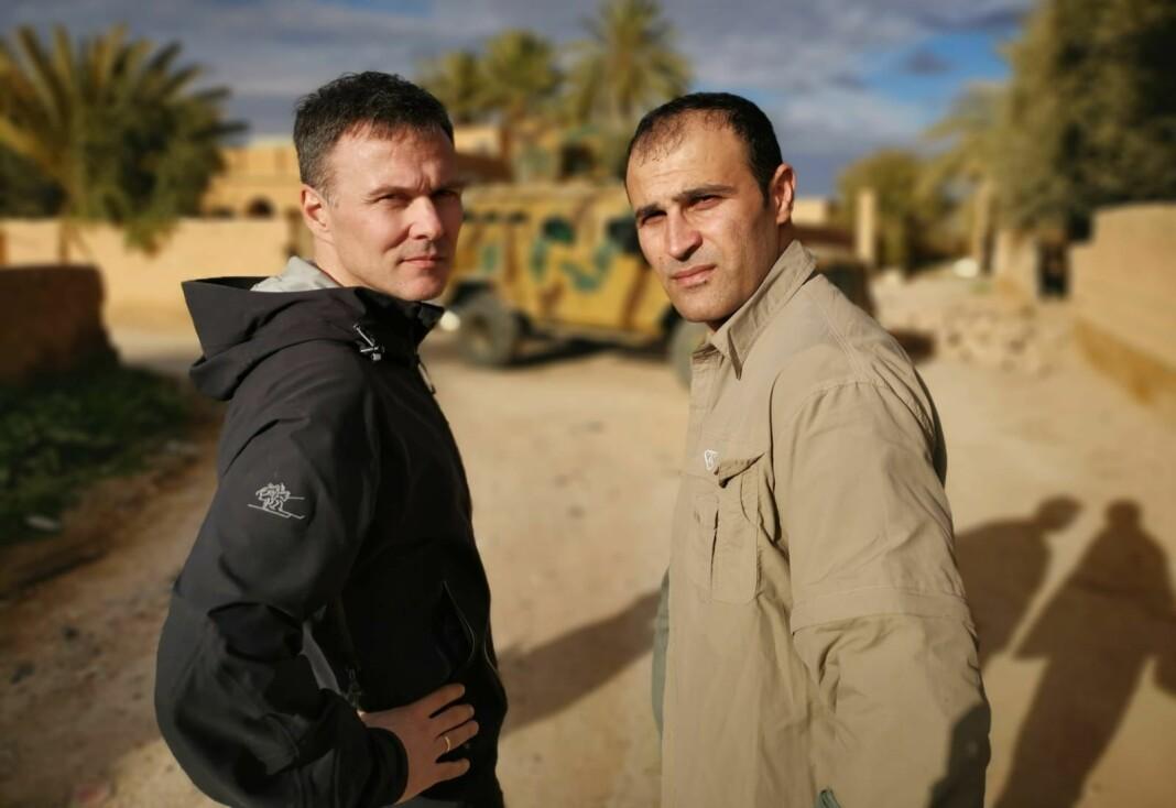 Tor Arne Andreassen og Afshin Ismaeli jobber tett sammen på sine turer til Midtøsten. Her er de i Syria i januar 2019.