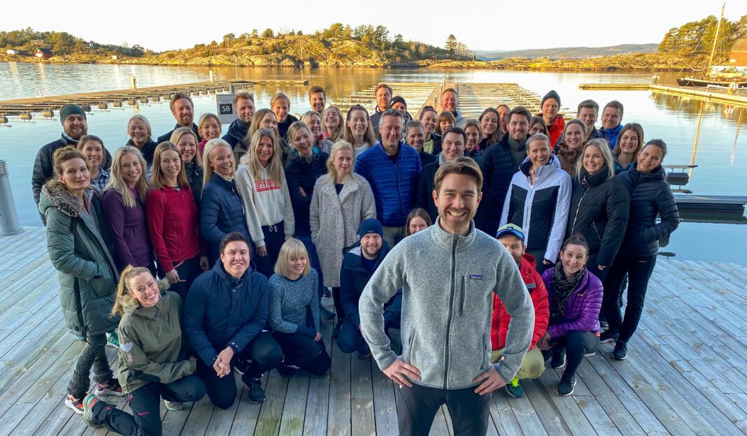 Samtlige ansatte i det nye selskapet Schibsted Partnerstudio var torsdag samlet til strategiseminar i Son.