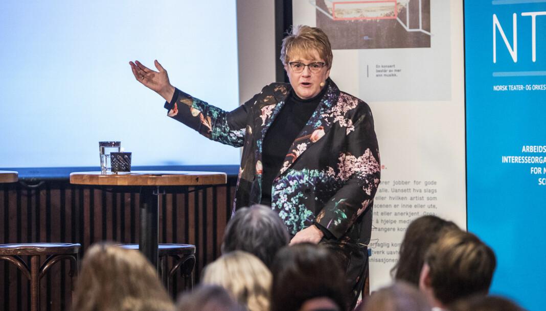 Venstres leder Trine Skei Grande er i dag kultur- og likestillingsminister, men kan bli kunnskapsminister, ifølge VG.