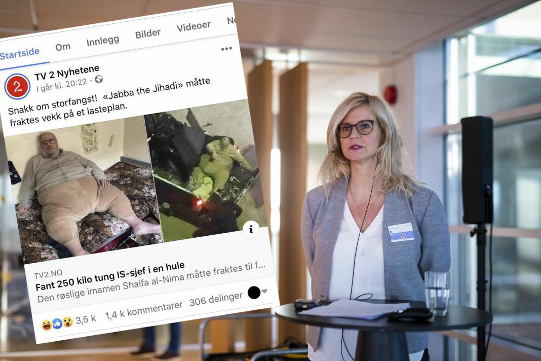 Nyhetsredaktør i TV 2 Karianne Solbrække mener saken ikke var heldig vinklet.