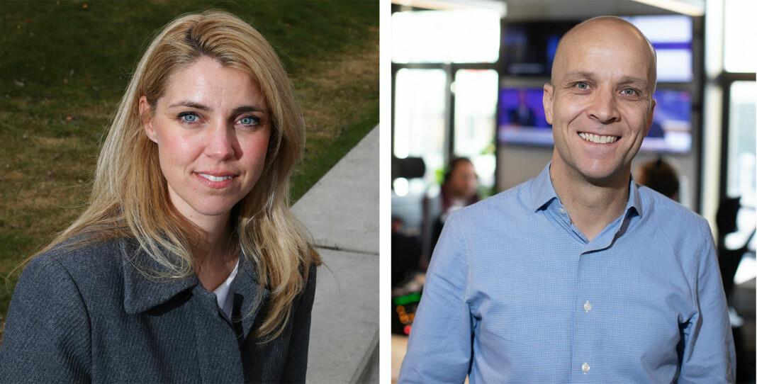 Ansvarlig redaktør Alexandra Beverfjord og programdirektør Kristoffer Vangen ser fram til å samarbeide.