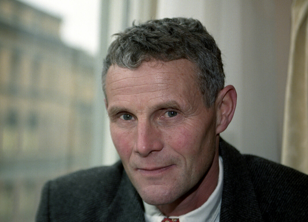 Forfatter Tor Obrestad er død. Dette bildet ble tatt i 1996.