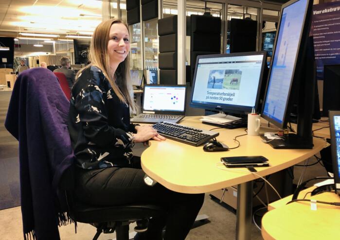 Kathrine Hammerstad er redaksjonssjef i NRK Direkte og ansvarlig for nyhetenes klimasatsing.