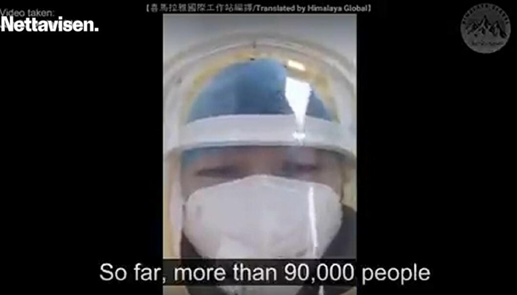 En video med oppsiktsvekkende påstander om koronavirusutbruddet fikk leve hos Nettavisen i ei uke. Nå er den slettet.