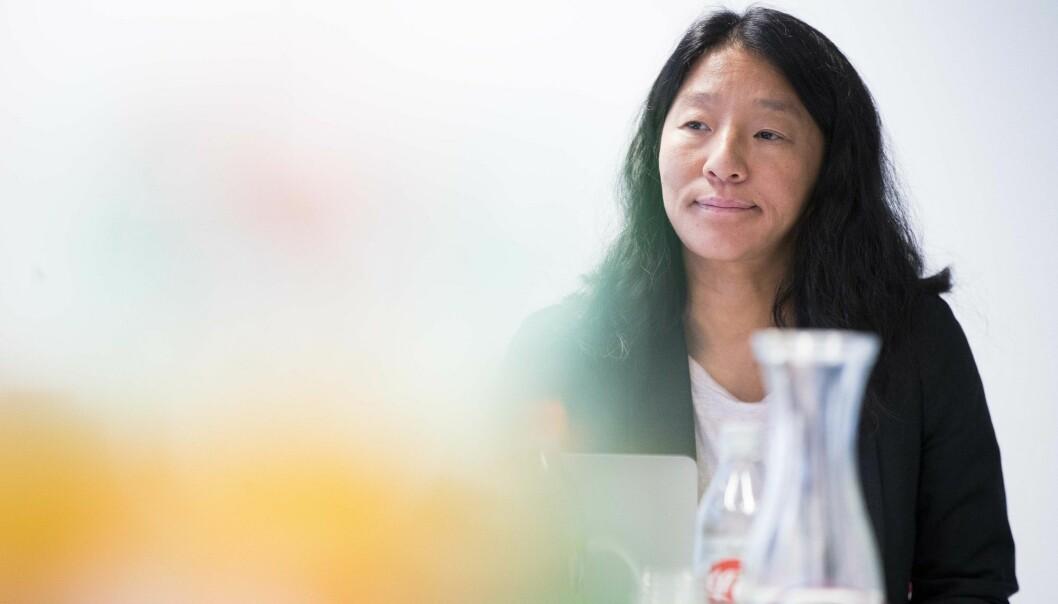 PFU skal behandle en sak med opphav i Danmark. Her ved PFU-leder Anne Weider Aasen.