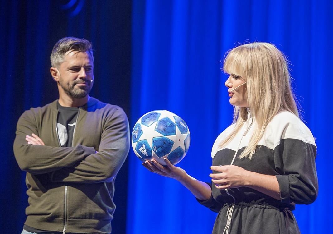 TV 2s Jan-Henrik Børslid er spent før budrunden om Premier League-rettighetene. Her sammen med Julie Strømsvåg.