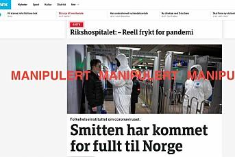 Falske meldinger om at koronaviruset har nådd Norge