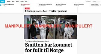 Falske artikler sprer rykter om korona-viruset er nådd Norge