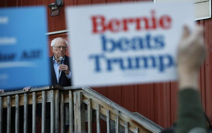 Bernie Sanders i Iowa 2. februar.