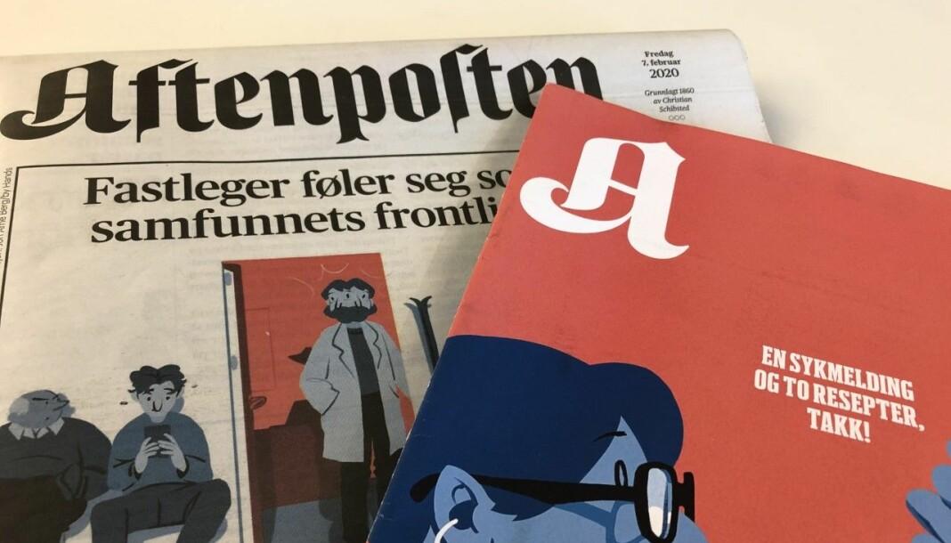Aftenposten og A-magasinet fredag 7. februar. Foto: Nils Martin Silvola