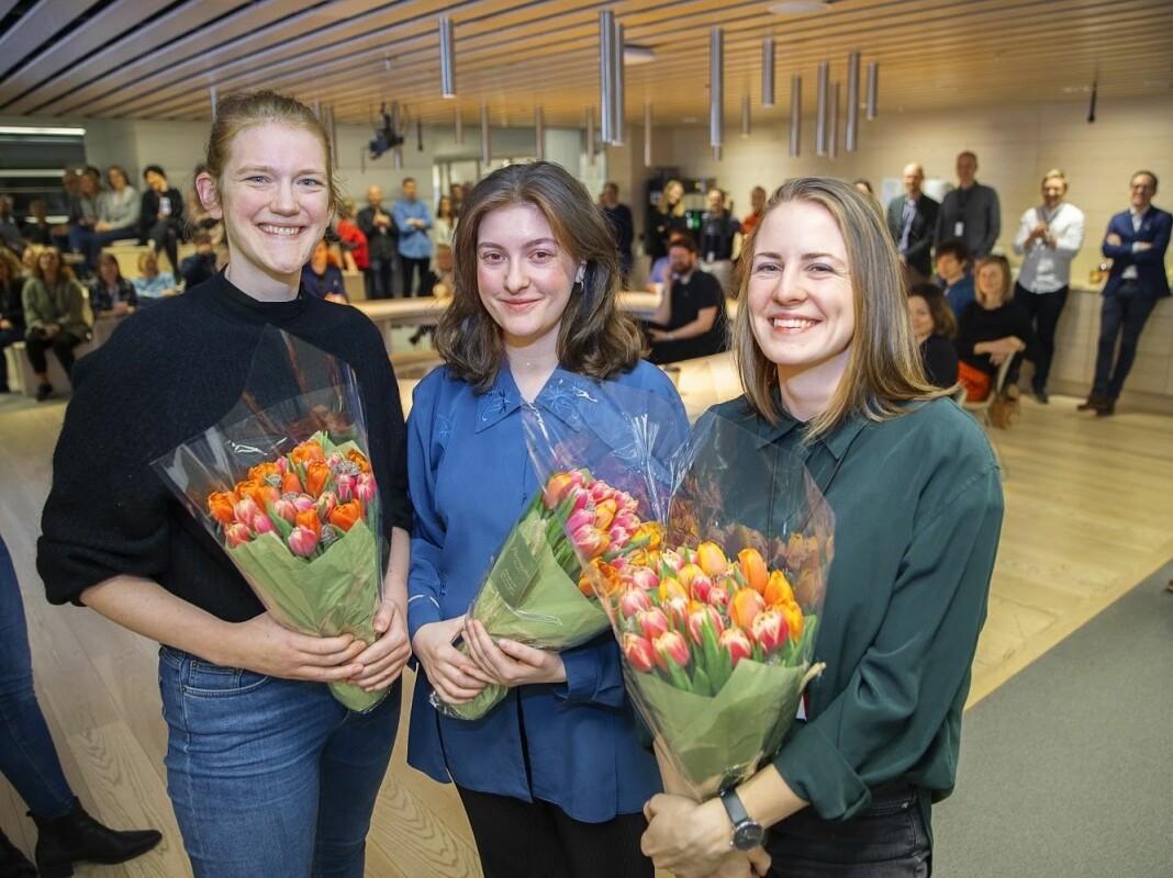 Marit Eriksdatter Gjellan (31), Fride Næss Nonstad (26) og Anne Lindholm (26) får fast jobb Aftenpostens Forklart.