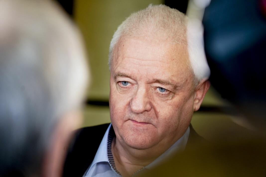 Frode Berg etter møtet med Stortingets EOS-utvalg.