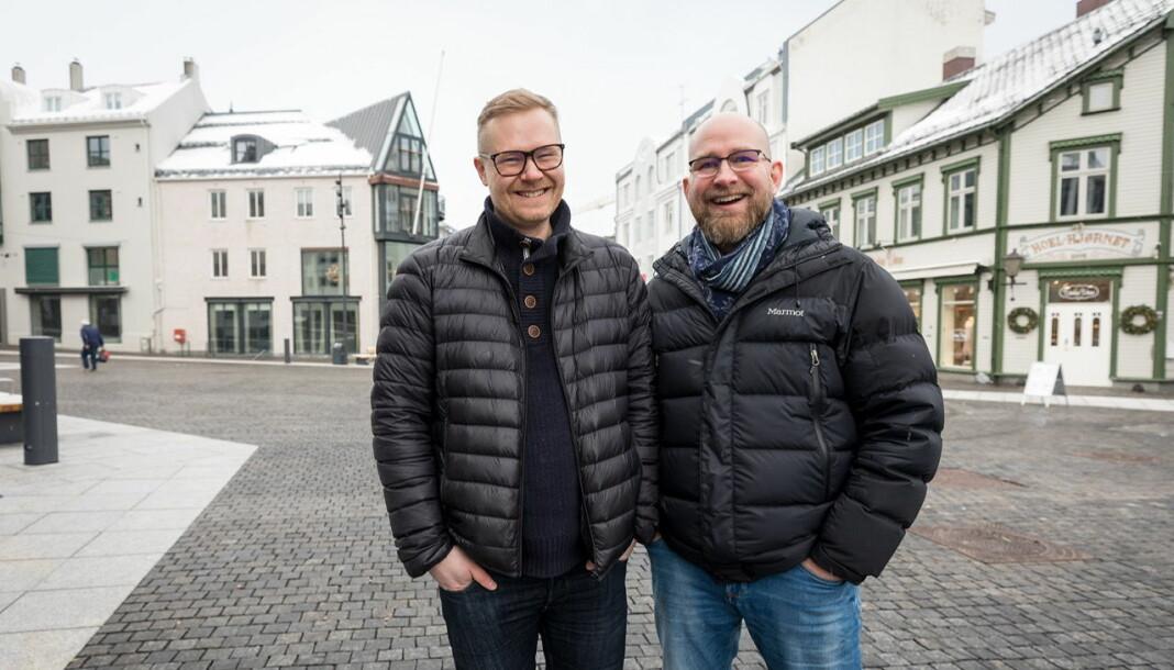 Morten I. Jensen (til høyre) og Lars Richard Olsen blir henholdvis ansvarlig redaktør og nyhetsredaktør i den nye avisen.