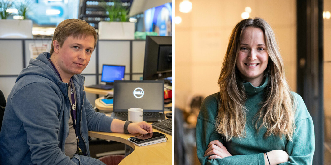 Øvyind Bye Skille og Eline Helledal har begge fått jobb i Faktisk.no.