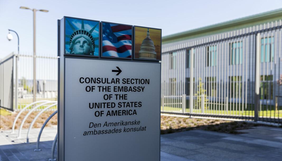 Alle som vil ha pressevisum må til intervju hos den amerikanske ambassaden i Oslo.