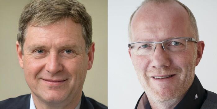 Ett av disse ansiktene tilhører redaktørforeningens Arne Jensen. Det andre er datagenerert.