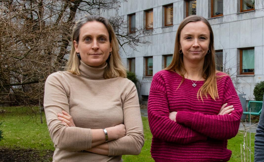 Fra venstre Astrid Rommetveit, prosjektleder for klima i NRK, og Kathrine Hammerstad, redaksjonssjef for NRK Nyheter.