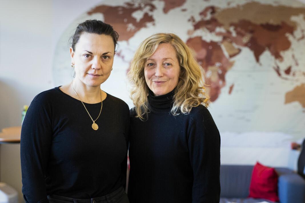 Kommunikasjonssjef Silje Grytten og prosjektleder/kommunikasjonsrådgiver Lindis Hurum i Leger uten Grenser, mener sitater er like troverdige om de er formulert av noen andre.