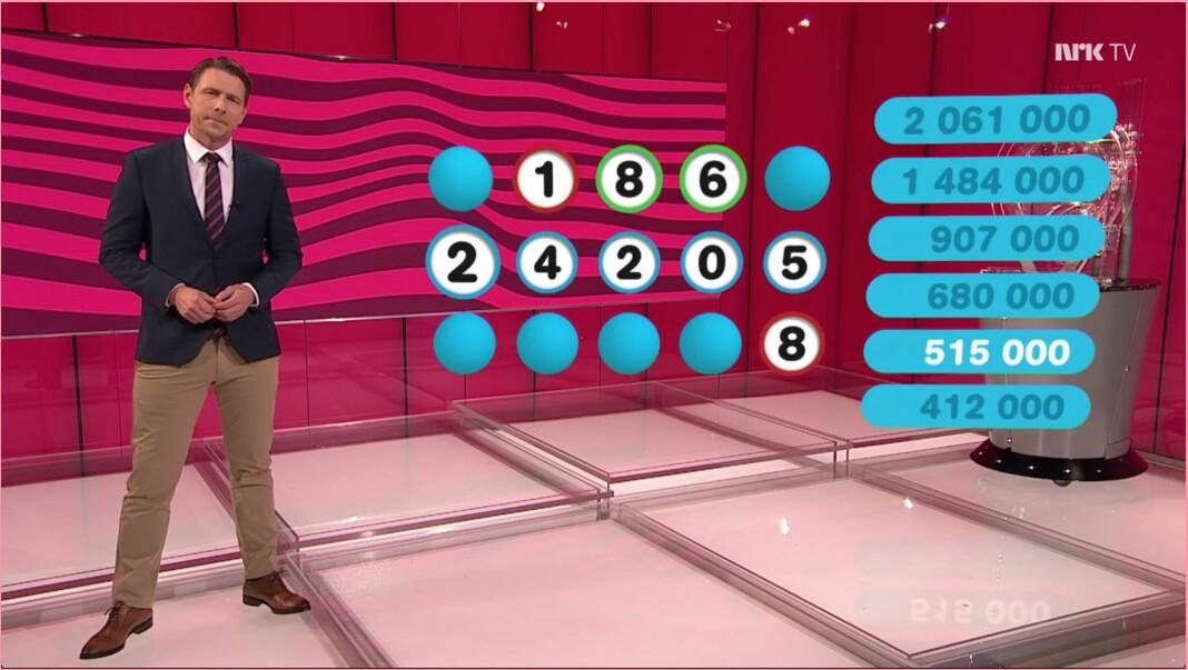 Reidar Buskenes ledet Lotto-trekningen på NRK på lørdag 15. februar.