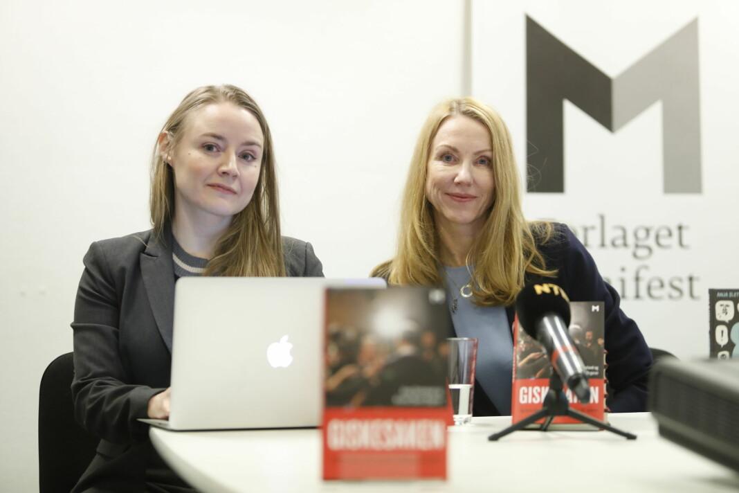 Førstelektor Anja Sletteland (t.v.) og professor Kristin Skare Orgeret presenterte tirsdag boka «Giskesaken og hvordan vi får #metoo tilbake på sporet».