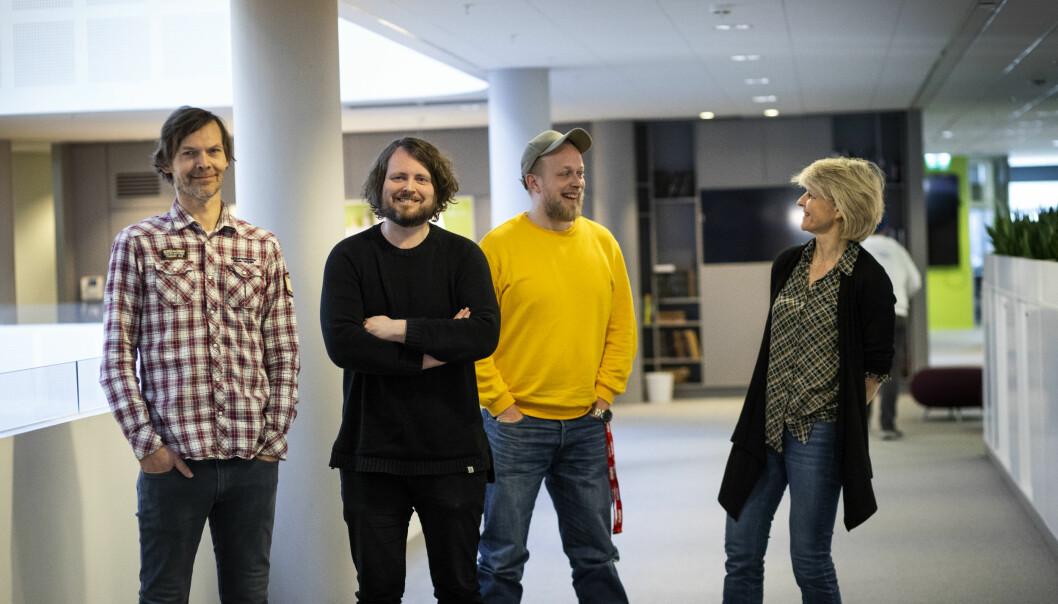 John Rasmussen, Bernt Jakob Oksnes, Torgeir Krokfjord og Siri Gedde-Dahl har avdekket hvordan fluorsmøring kan påvirke både folk og natur.