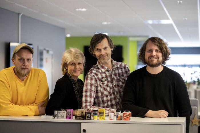 Torgeir Krokfjord, Siri Gedde-Dahl, John Rasmussen og Bernt Jakob Oksnes.