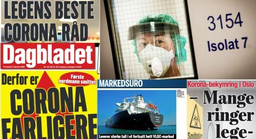 Korona omtalt i 1800 saker i norske medier i forrige uke