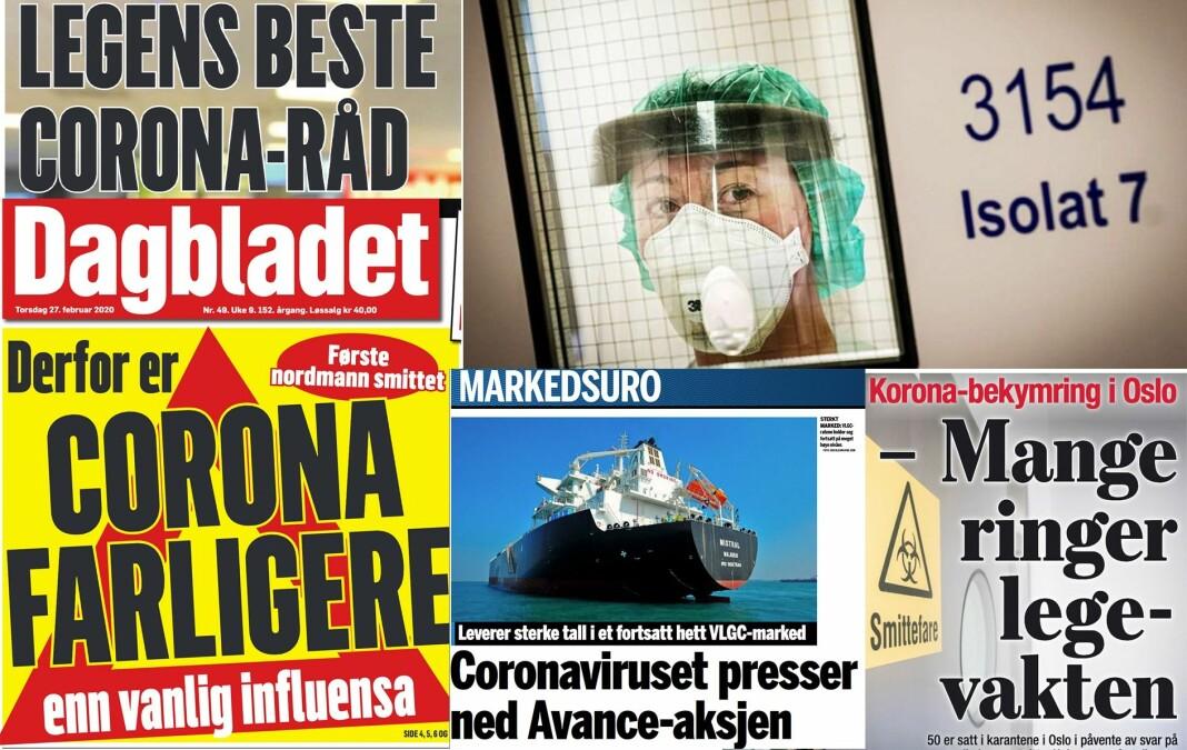 Koronaviruset fikk stor plass i norske medier forrige uke.