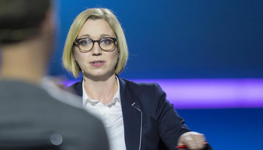 NTBs nyhetsredaktør Sarah Sørheim bekrefter at redaksjonen kan ha blitt eksponert for koronasmitte.  Foto: Vidar Ruud / NTB scanpix