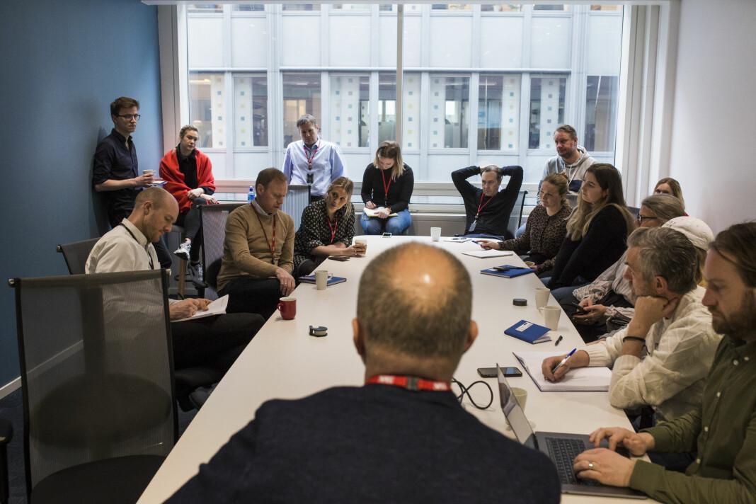 Alle avdelingslederne har koronaviruset på agendaen på VGs morgenmøte.